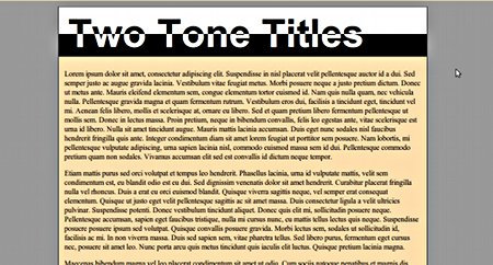 Two tone title in CSS